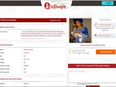 Matrimonial(Match MAking) Website