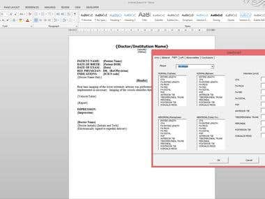 Word Automated Medical Reports 2