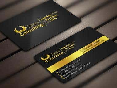 Design some Business Cards for Classy Consulting
