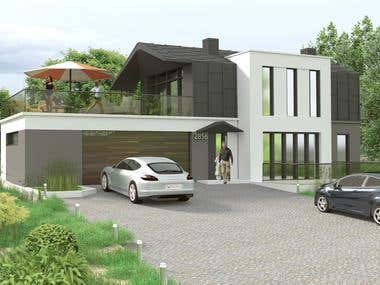 house design, ecological and cheap to realize