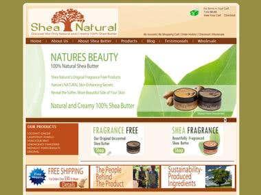 Shea-Natural e-commerce Website