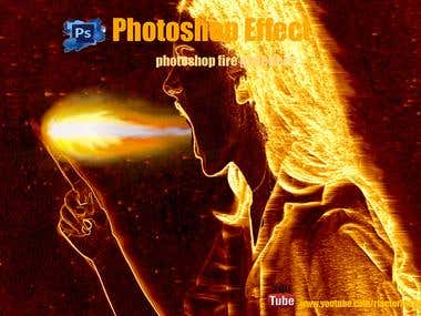 Photoshop fire girl effect.