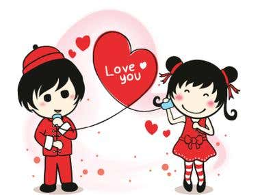 LINE Sticker Ztephee Series - Valentine and Chinese New Year