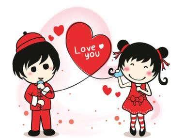 LINE Sticker Ztephee Series - Valentine and Chinese New Year