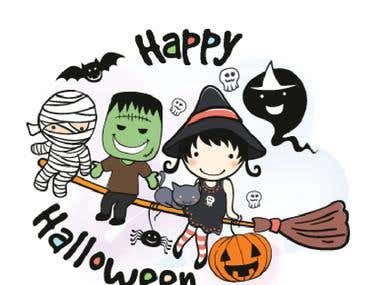 LINE Sticker Ztephee Series - Halloween