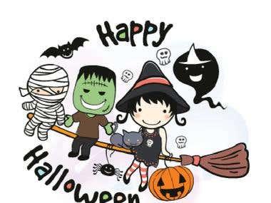 LINE Sticker Ztephee Series - Halloween