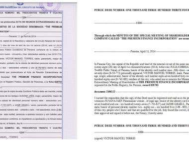 Legal Translation Sample