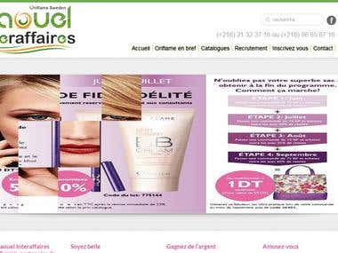 development of an online store in www.naoueloriflame.com
