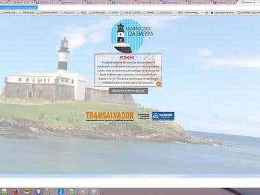 Site Moradores da Barra, para Prefeitura de Salvador.