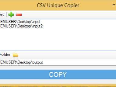 CSV Unique Copier