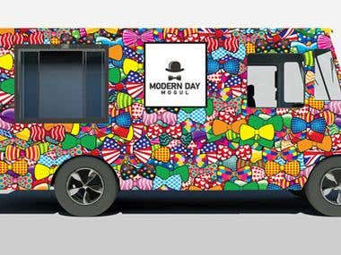 Design for a Bow Tie store truck