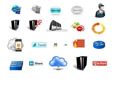 Icons for a web based software