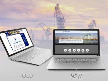 Ship Global Web Design  in WordPress