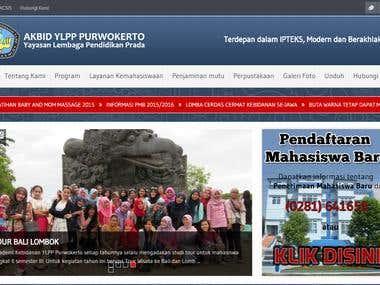 akbidylpp.ac.id - Corporate Website Development
