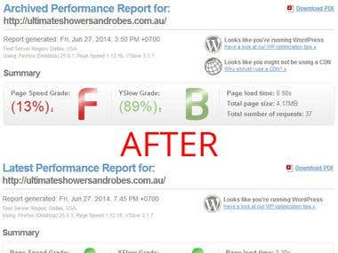 ultimateshowersandrobes.com.au - Google Website Optimizer