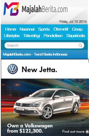 MajalahBerita.com - WordPress Mobile Theme - Custom Theme