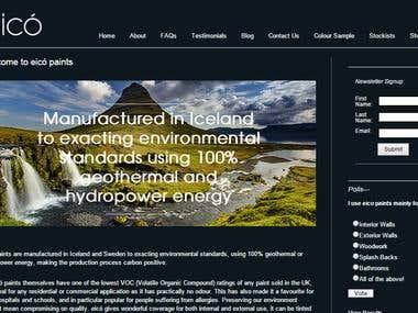 eico.co.uk - Corporate Website Development