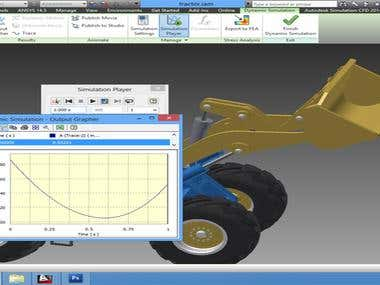 Excavator Design & Analysis in Autodesk Inventor