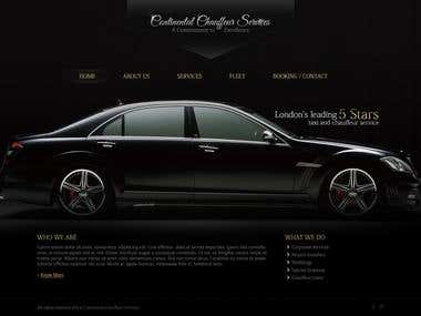 Website Mockup for Premium Chauffeur Services