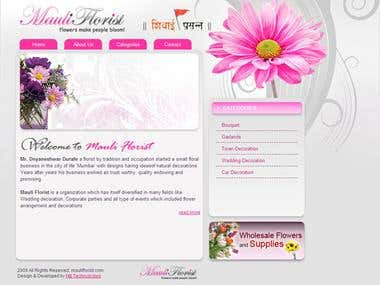 Web Site For Florist