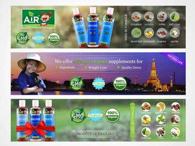 Thai Herbs Company Website Slider