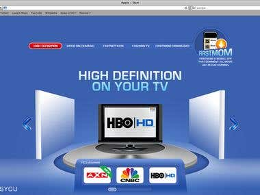 Online campaign landing page for First Media