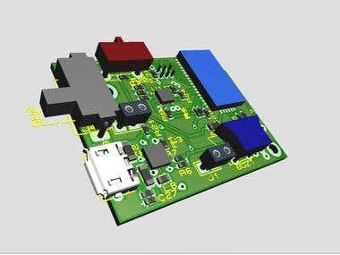 Bluetooth Low energy (BLE 4.0) Vibration car alarm
