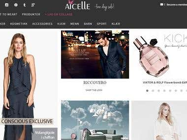 Aicelle Fashion Website