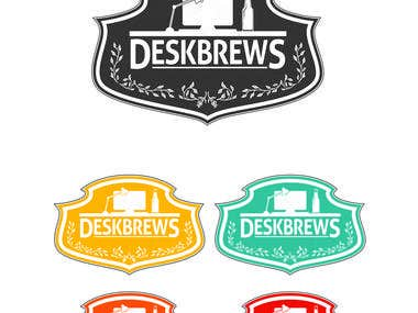 Desk Brew Logo Design