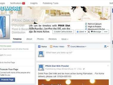 Social Media Marketing And Management for a Milk brand