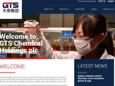 GTS Chemicals website