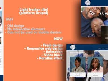 Light freshen site! (platform Drupal)