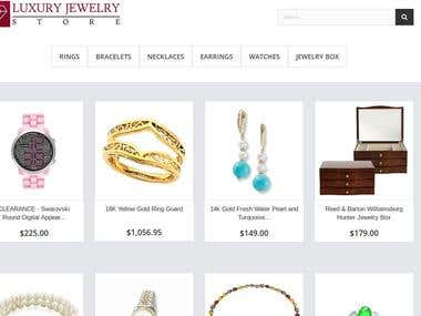 Building, installing and hosting of a Online Jewelry Store