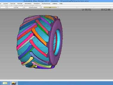 Design & Analysis of Tyre of excavator