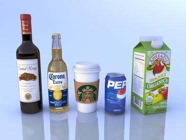 3D Product Rendering - Beverages