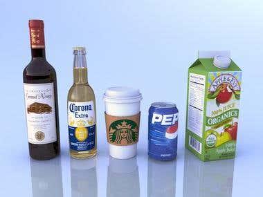 3D Product Rendering - Beverages