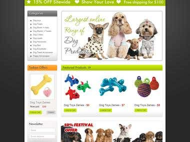 eCommerce Products Website