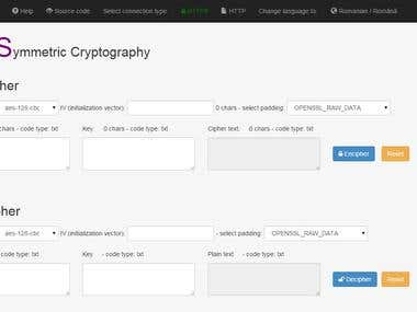 SPOCOT: web app for cryptography