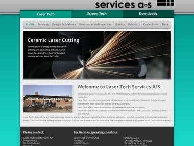 Laser Tech Website Design