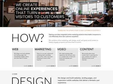 Optimyz Interactive - WordPress Theme
