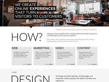 Optimyz Interactive - WordPress Theme