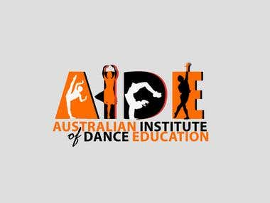AIDE for Dance School Logo Graphic Design