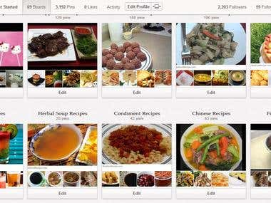 Adding Recipes in Pinterest