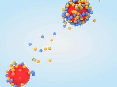 Particle Render 3D Composition