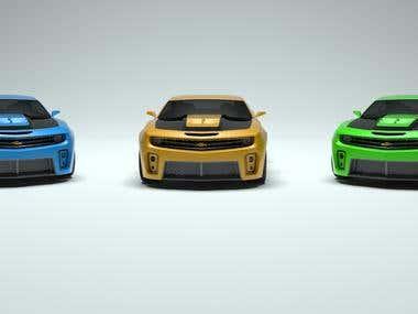 Camaro 3D Model and Render 2014