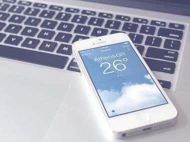 Minimal weather app for iOS