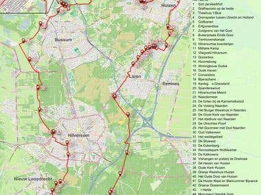 Bicycle tour map