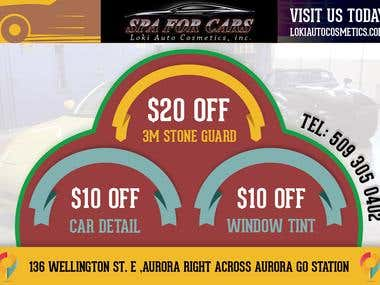 SPA for Cars Banner