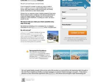 Home Builder PPC Campaign