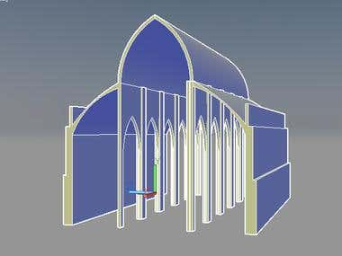3D model of cathedral